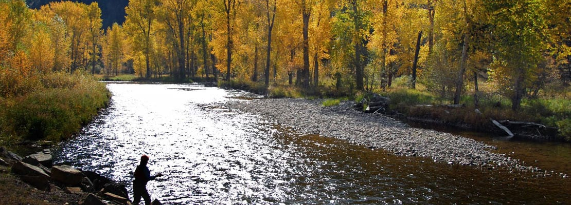 autumn fly fishing on Rock Creek in Montana