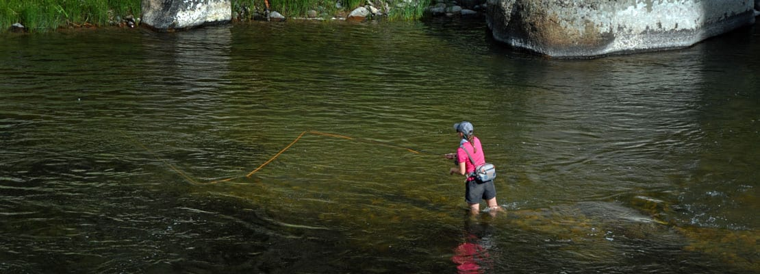 summer fishing on Rock Creek in Montana