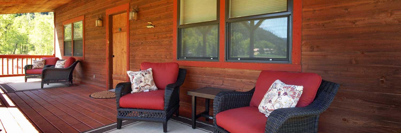 Farmers Porch of Vacation Rental near Missoula