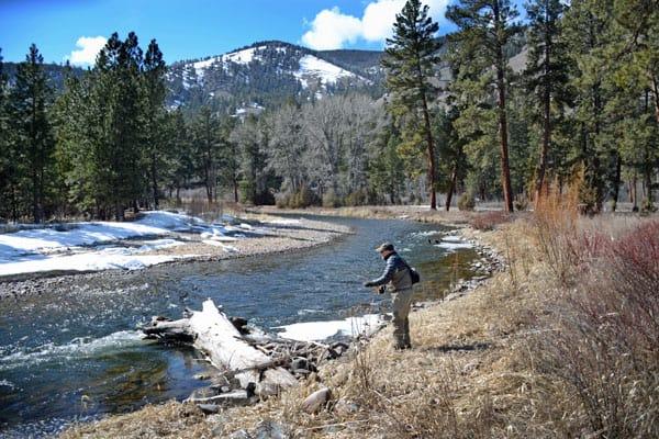 Fishing Rock Creek in April