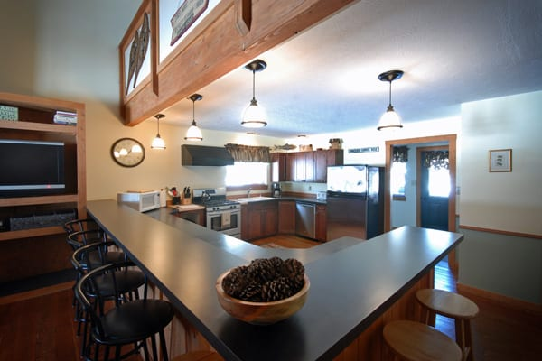 Kitchen at Vacation Rental on Rock Creek