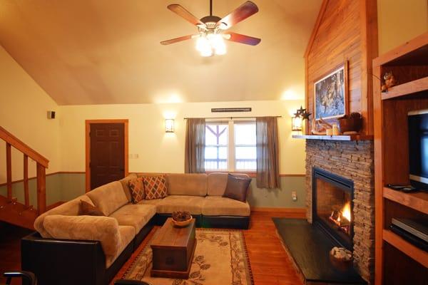 Golden Stone Cabin Living Room