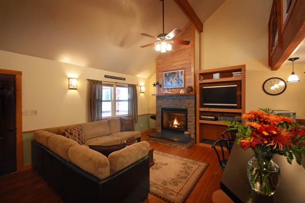 Living Room at the Golden Stone Cabin