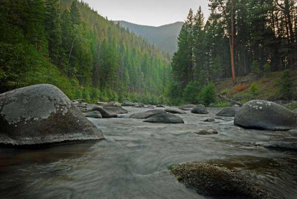 Upstream of the Swing Bridge on Rock Creek