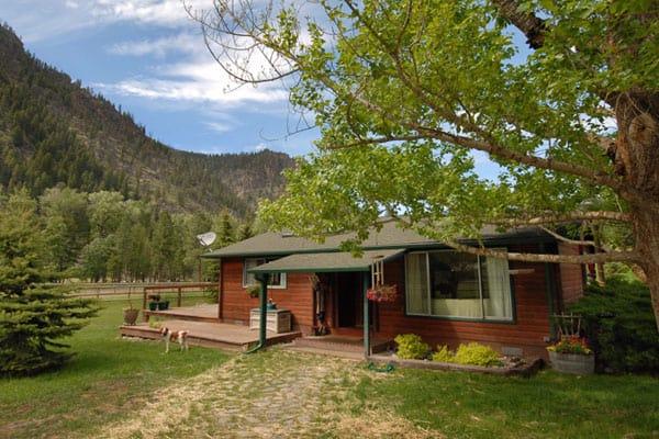 Sawmill Cabin exterior in Rock Creek Montana